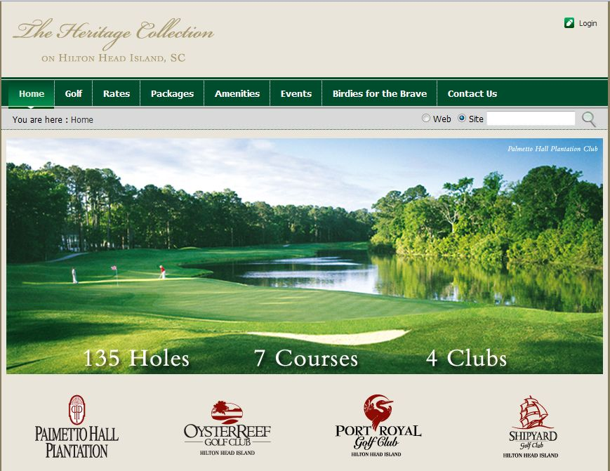 HiltonHeadGolf.net Website
